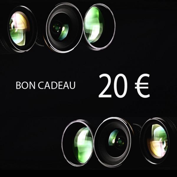 Bon cadeau cours photo 20 euros